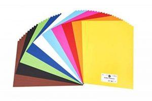 perfect ideaz 50feuilles de carton photo A2, carton de bricolage, teinté dans la masse, en 10coloris différents, grammage 300g/m², feuilles à qualité élevé de la marque perfect ideaz image 0 produit