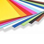 perfect ideaz 50feuilles de carton photo A2, carton de bricolage, teinté dans la masse, en 10coloris différents, grammage 300g/m², feuilles à qualité élevé de la marque perfect ideaz image 1 produit