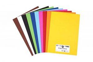 perfect ideaz 50feuilles de papier cartonné A3, carton de bricolage, teinté dans la masse, en 10coloris différents, grammage 210g/m², feuilles à qualité élevé de la marque perfect ideaz image 0 produit