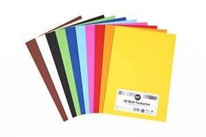 perfect ideaz 50feuilles de papier cartonné A4, carton de bricolage, teinté dans la masse, en 10coloris différents, grammage 210g/m², feuilles à qualité élevé de la marque perfect ideaz image 0 produit
