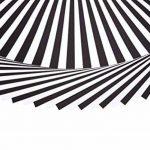 perfect ideaz 50 feuilles de papier couleur format A3, 25 x blanc & 25 x noir, teinté dans la masse, blanche et noire, 130 g/m², papier de bricolage de haute qualité de la marque perfect ideaz image 1 produit