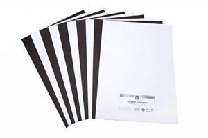 perfect ideaz 50 feuilles de papier couleur format A3, 25 x blanc & 25 x noir, teinté dans la masse, blanche et noire, 130 g/m², papier de bricolage de haute qualité de la marque perfect ideaz image 0 produit