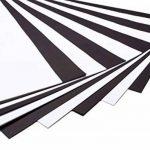 perfect ideaz 50 feuilles de papier couleur format A3, 25 x blanc & 25 x noir, teinté dans la masse, blanche et noire, 130 g/m², papier de bricolage de haute qualité de la marque perfect ideaz image 2 produit