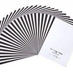 perfect ideaz 50 feuilles de papier couleur format A3, 25 x blanc & 25 x noir, teinté dans la masse, blanche et noire, 130 g/m², papier de bricolage de haute qualité de la marque perfect ideaz image 5 produit