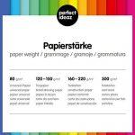 perfect ideaz Lot de 100 feuilles de papier couleur au format A4, Papier couleur teinté dans la masse, Noir, 130g/m², papier de bricolage de haute qualité de la marque perfect ideaz image 6 produit