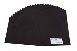 perfect ideaz Lot de 50 feuilles de papier couleur au format A3, Papier couleur teinté dans la masse, Noir, 130 g/m², papier de bricolage de haute qualité de la marque perfect ideaz image 0 produit