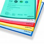 Perfect Line 50dossiers multicolores de pochettes A4, sur le côté & Haut ouvert, couleur transparente de poches pour protection de films, 5couleurs, vue de papier et documents de la marque perfect line image 3 produit