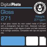 PermaJet 50805 Gloss 100 feuilles de papier brillant à séchage instantané 271 g/m² 18 x 12 cm de la marque Permajet image 1 produit