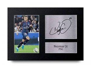 Photo de Neymar Jr du PSG avec autographe imprimé de la marque HWC Trading image 0 produit