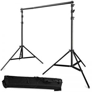 Photo Master réglable 3 x 2.8 m (3 x 2,7 m) Portable robuste Toile de fond support System Kit 3 m * 2.8 M- trépied est réglable + Reine de transport fonds de studio photo professionnel kit de la marque PHOTO MASTER image 0 produit