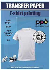 Photo paper direct inkjet de papier report à repasser sur des t-shirts clairs-blue grid a3 premium 10 feuilles de la marque PPD image 0 produit