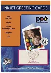 Photo Paper Direct Ppd-50–50A5Gloss Super papier jet d'encre carte de voeux de la marque Photo Paper Direct image 0 produit
