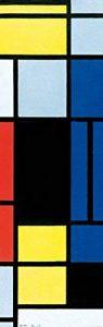 Piet Mondrian Papier Peint Photo/Poster - Tableau No. I, 1921-1925, 1 Partie (250 x 79 cm) de la marque 1art1® image 0 produit