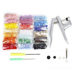 Pince + Bouton pression Plastiques T5,Samione Boutons Pressions Plastiques en 20 couleurs et de Pinces pour T3, T5 et T8 en Métal couture de bricolage et projets d''artisanat (300pcs) de la marque Samione image 0 produit