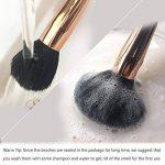 pinceaux maquillage, 15 Pcs Premium brosses cosmétiques avec soies synthétiques en bois poignée Foundation Eye Shadow Blush brosse à lèvres avec boîte-cadeau Qivange de la marque QIVANGE image 3 produit