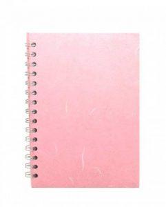 Pink Pig Posh Silk Pig Carnet de croquis à feuilles blanches Rose pâle Format A5 portrait de la marque Pink Pig image 0 produit