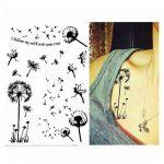 Pinkiou Tatouage Autocollants Dentelle Noire Autocollants pour Femmes Body Art Tatouage Temporaire (Lot de 6) de la marque Pinkiou image 3 produit