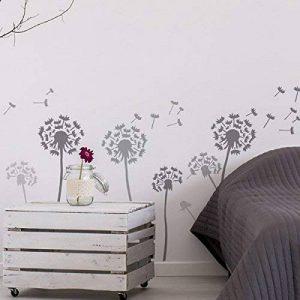 Pissenlit & Flottant graines pochoir mural Maison Décoration Art & loisirs créatifs pochoir peinture murs TISSUS & MEUBLES 190 Mylar réutilisable pochoir - semi transparent pochoir, XL/A1/ See images de la marque Ideal Stencils image 0 produit