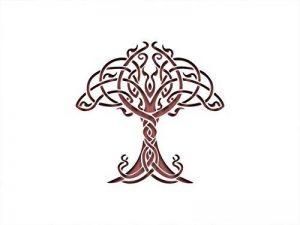 PixieBitz Nœud celtique nordique Arbre inspiré Pochoir–30,5x 20,3cm–190MU Mylar A, peinture, artisanat, Grafitti de la marque PixieBitz image 0 produit