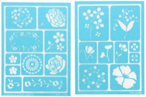 Plaid Martha Stewart adhésifs pochoirs 2 feuilles/Pkg-fleurs 5-3/4 X 7-3/4 19 dessins de la marque Plaid image 0 produit