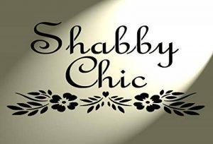 Plastique Pochoir shabby chic Inscription avec cœur Fleurs Vintage Style français A4297x 210mm de la marque Solitarydesign image 0 produit
