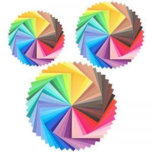 Pllieay 150feuilles simple face pour origami, 3tailles 50couleurs vives papier origami pour DIY Bricoler, arts et travaux manuels projets de la marque Pllieay image 0 produit