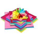 Pllieay 150feuilles simple face pour origami, 3tailles 50couleurs vives papier origami pour DIY Bricoler, arts et travaux manuels projets de la marque Pllieay image 1 produit