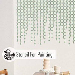 PLUIE DE DIAMANT Mur Meubles Sol Pochoir Pour Peinture - Meubles Moyen de la marque Dizzy Duck Designs image 0 produit