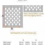 PLUIE DE DIAMANT Mur Meubles Sol Pochoir Pour Peinture - Meubles Moyen de la marque Dizzy Duck Designs image 1 produit