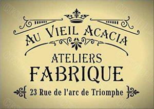 Pochoir A4–Style shabby chic, français, meubles, tissu, verre, réutilisable en Mylar * * * * * * * * * * * * * * * * NOUVEAU Plus épais 190microns (142) de la marque cfsupplies image 0 produit