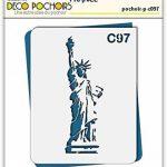 Pochoir Amérique statue de la liberté - Taille M feuille 210x270 mm de la marque decopochoirs image 1 produit