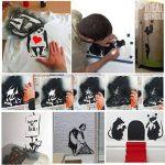 pochoir BANKSY - Panda GUNS Pandamonium réutilisable DÉCORE DE MAISON & ART ARTISANAT peinture pochoir - semi transparent pochoir, XXL/77X77CM de la marque Ideal Stencils image 2 produit
