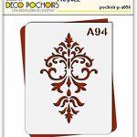 Pochoir baroque - Taille S feuille 140x180 mm de la marque decopochoirs image 1 produit