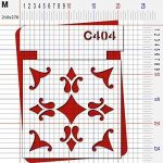 Pochoir carrelage - Taille M feuille 210x270 mm de la marque decopochoirs image 2 produit