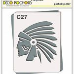 Pochoir chef indien Cochise - Taille M feuille 210x270 mm de la marque decopochoirs image 1 produit