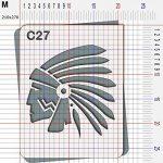Pochoir chef indien Cochise - Taille M feuille 210x270 mm de la marque decopochoirs image 2 produit