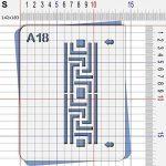 Pochoir classique - Taille S feuille 140x180 mm de la marque decopochoirs image 2 produit