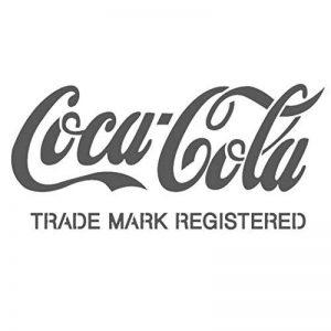Pochoir Coca Cola 20,6 cm x 9,5 cm- Réutilisables pochoirs pour DIY Decor Peinture murs meubleschoir, stencil de la marque J BOUTIQUE STENCILS image 0 produit