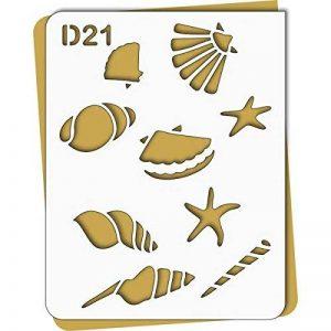Pochoir coquillages - Taille M feuille 210x270 mm de la marque decopochoirs image 0 produit
