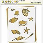 Pochoir coquillages - Taille M feuille 210x270 mm de la marque decopochoirs image 1 produit