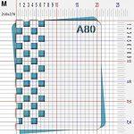 Pochoir damier - Taille M feuille 210x270 mm de la marque decopochoirs image 2 produit