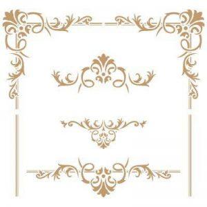 Pochoir de décoration Cenefa 057 Motif floral etangles Dimensions approximatives : dimensions extérieures du pochoir de 20 x 20cm. Taille du design : 18,6 x 17,3cm, taille du motif 1: 18,6 x 9,2cm, taille du motif 2: 9,7 x 3,7 cm. de la marque TODO- image 0 produit