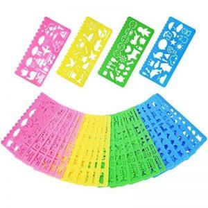 Pochoir de Dessin en Plastique Gabarits de Dessin pour les Enfants, 74 Formes, 24 Pièces de la marque Outus image 0 produit