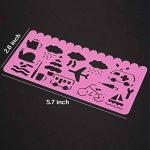 Pochoir de Dessin en Plastique Gabarits de Dessin pour les Enfants, 74 Formes, 24 Pièces de la marque Outus image 3 produit