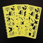 Pochoir de Dessin en Plastique Gabarits de Dessin pour les Enfants, 74 Formes, 24 Pièces de la marque Outus image 4 produit