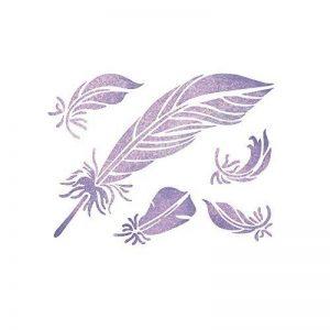 Pochoir en forme de plumes J Boutique Stensils, pochoirs réutilisables pour les travaux manuels et la décoration de la marque J BOUTIQUE STENCILS image 0 produit