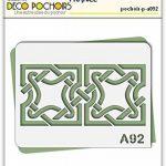 Pochoir entrelacs celte - Taille M feuille 210x270 mm de la marque decopochoirs image 1 produit