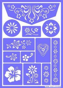 pochoir fleur TOP 1 image 0 produit
