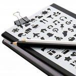 Pochoir Formes Géométriques(17.8*10.2 cm) Réutilisable Souple- Pour décorer votre Scrapbooking ou votre livre (12pcs) de la marque SuperHandwerk image 2 produit