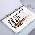 Pochoir Formes Géométriques(17.8*10.2 cm) Réutilisable Souple- Pour décorer votre Scrapbooking ou votre livre (12pcs) de la marque SuperHandwerk image 4 produit